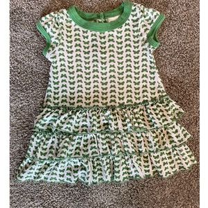 Old Navy Baby Girls Green Butterfly SS Dress